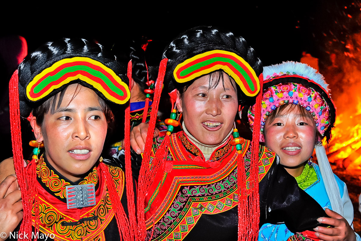 China,Earring,Festival,Hair Piece,Hat,Yi,Yunnan, photo