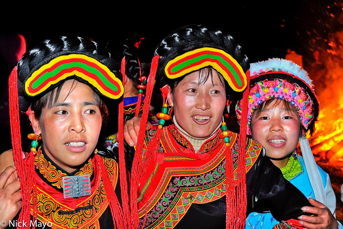 China,Earring,Festival,Hair Piece,Hat,Yi,Yunnan, photo