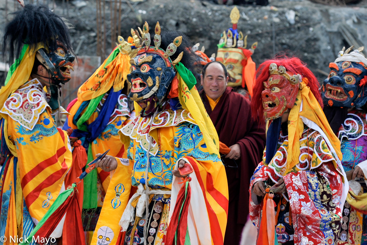 China,Festival,Mask,Monk,Sichuan,Tibetan, photo