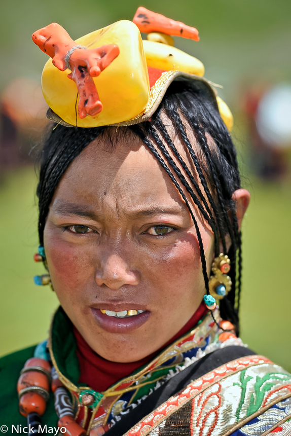 China,Earring,Festival,Hair,Hair Piece,Sichuan,Tibetan, photo