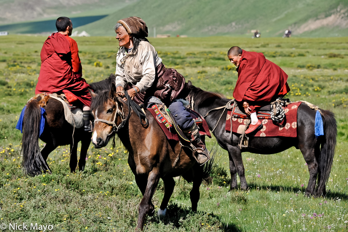 China,Festival,Horse,Monk,Sichuan,Tibetan, photo