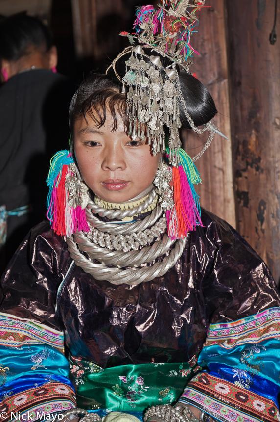 Bracelet,China,Earring,Guizhou,Hair,Hair Piece,Miao,Necklace,Wedding, photo
