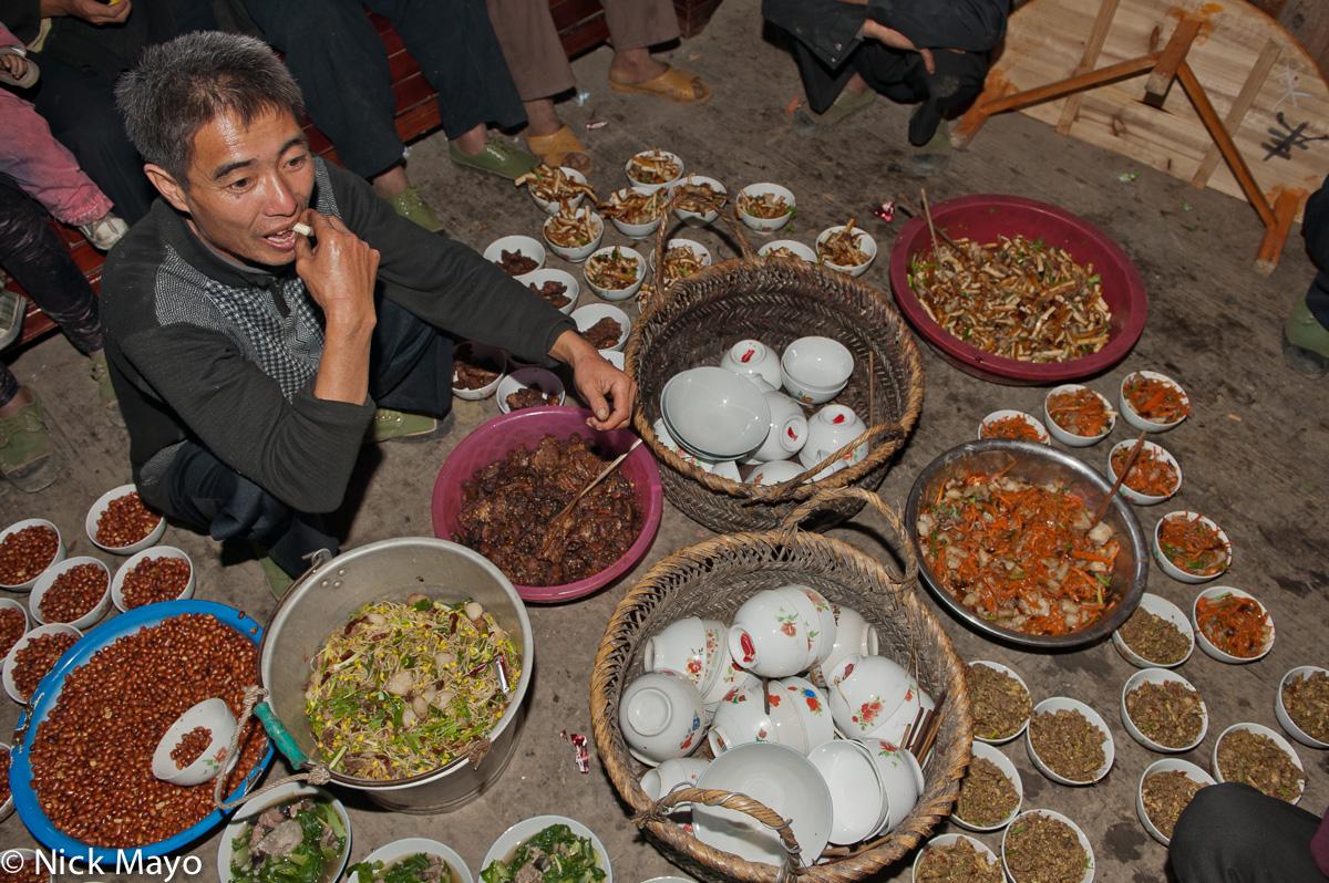 China,Guizhou,Miao,Preparing,Vegetable,Wedding, photo
