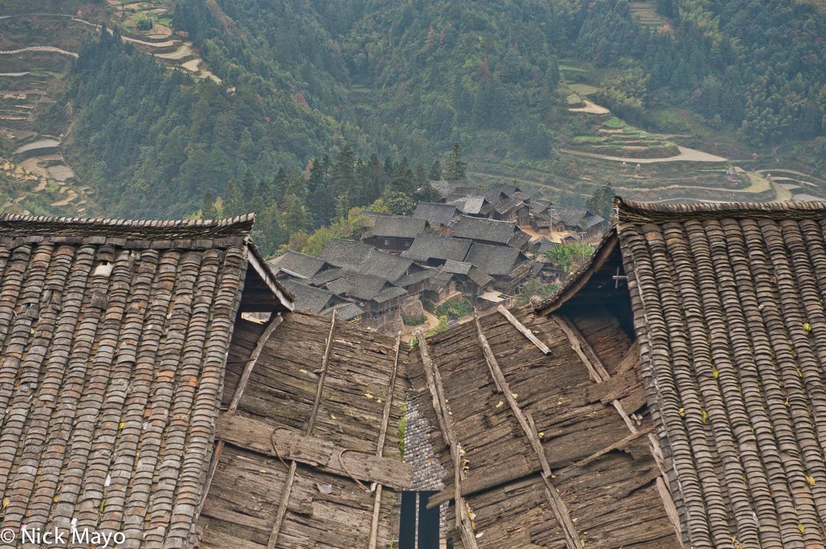 China,Guizhou,Roof,Village, photo