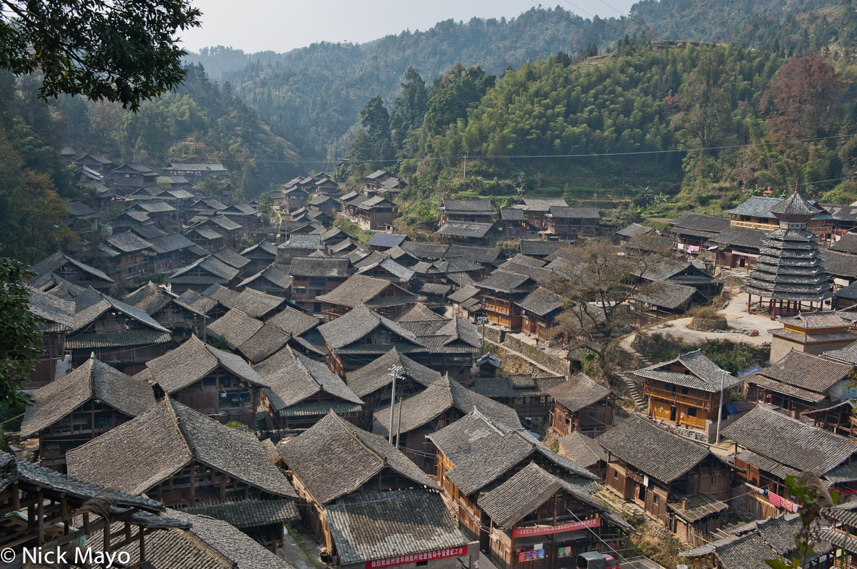 China,Drum Tower,Guizhou,Roof,Village, photo