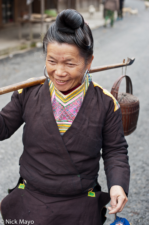 China,Guizhou,Miao,Shoulder Pole, photo