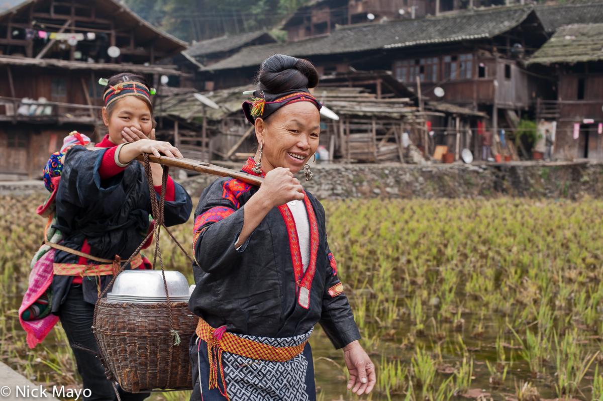 China,Guizhou,Miao,Shoulder Pole, photo
