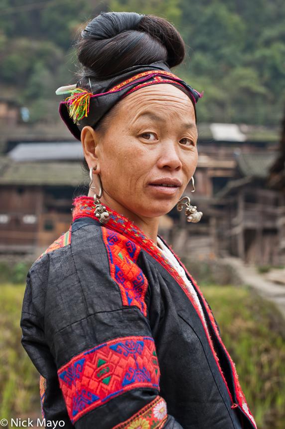 China,Earring,Guizhou,Hair,Miao, photo