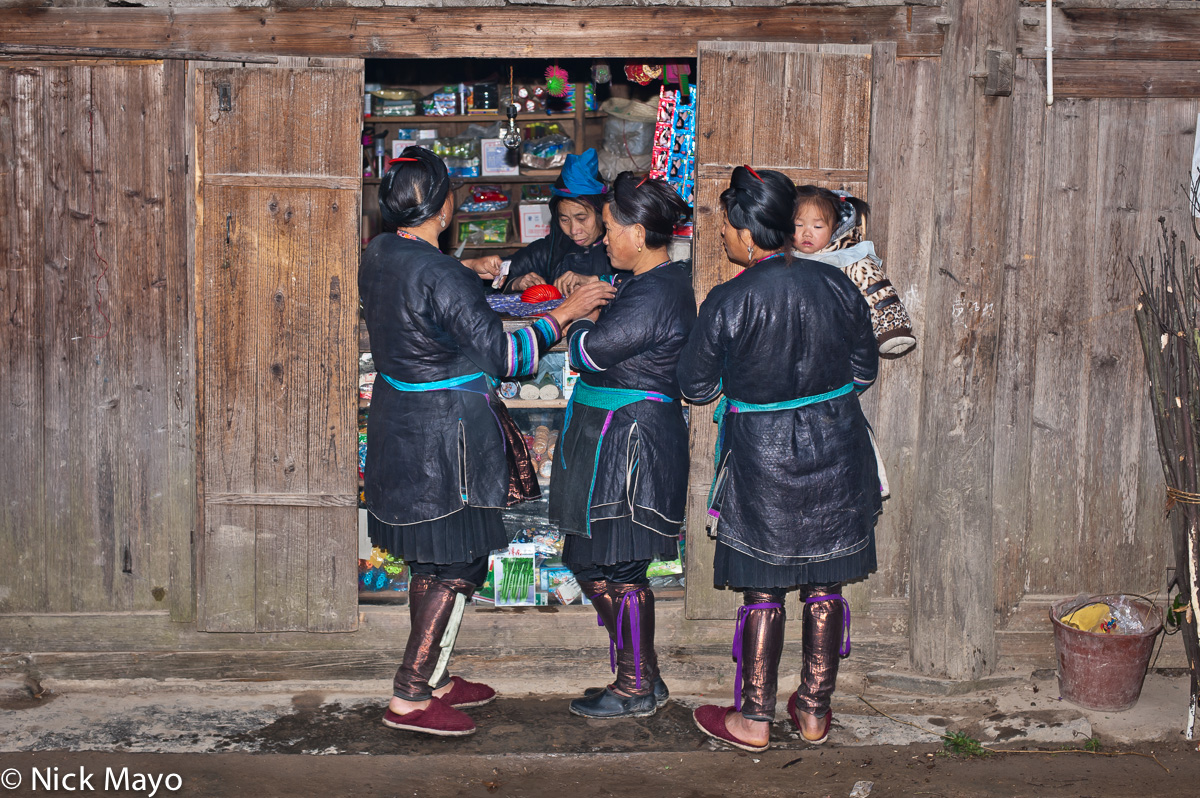 China,Dong,Guizhou,Leggings,Shop, photo