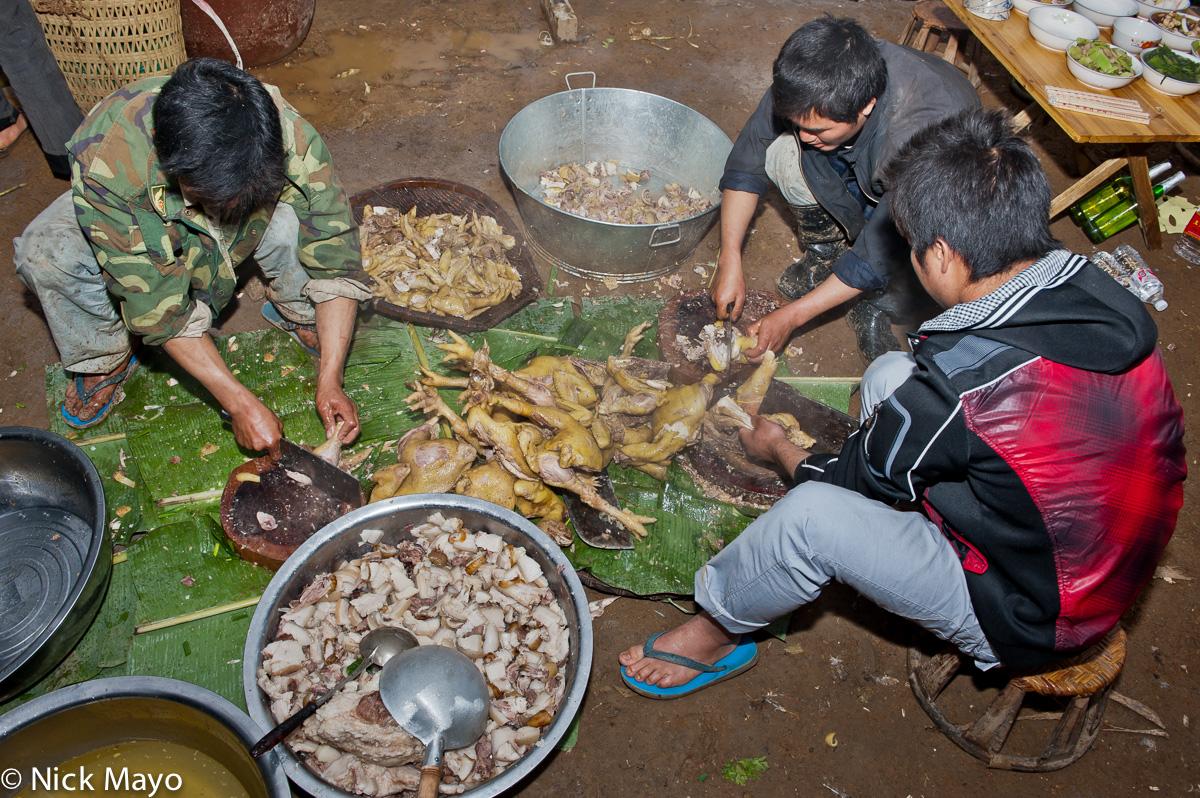 China,Meat,Preparing,Yao,Yunnan, photo