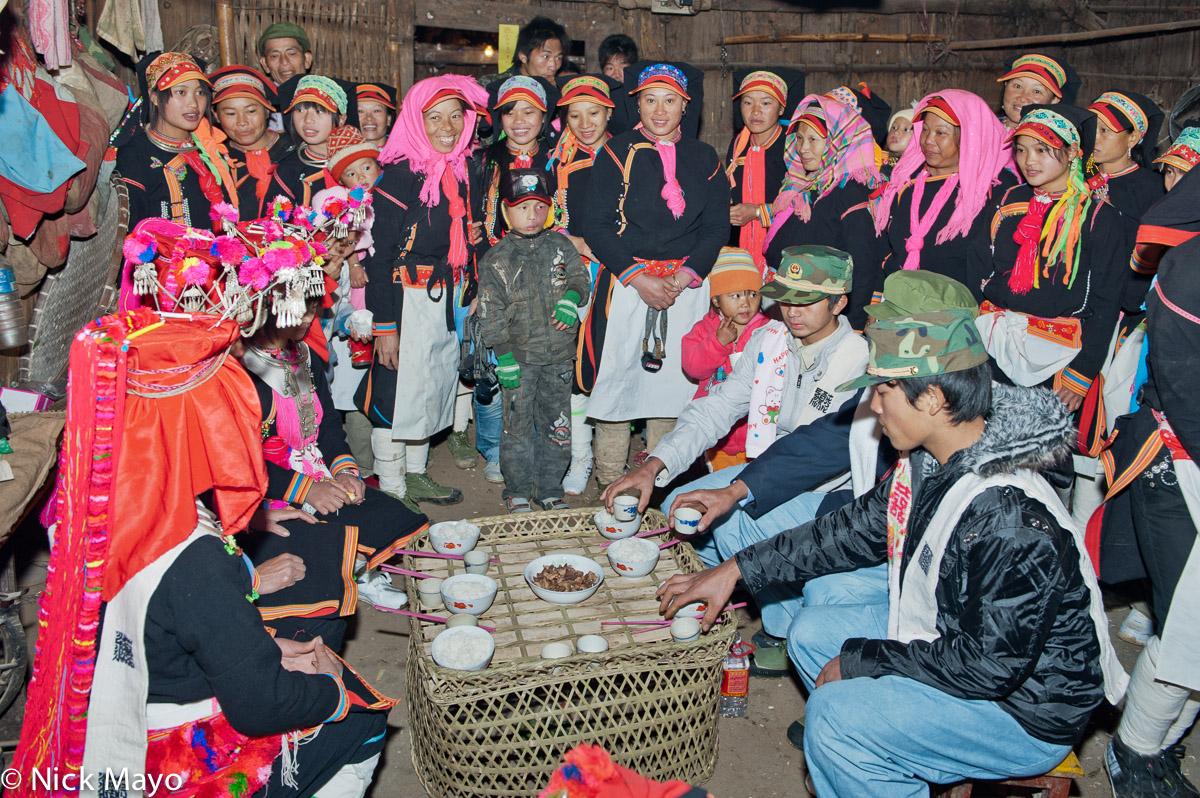 Apron,China,Hat,Meat,Rice,Wedding,Yao,Yunnan, photo