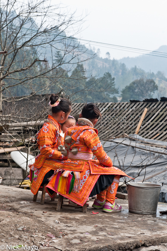 Apron,Backpiece,China,Guizhou,Miao,Wedding, photo