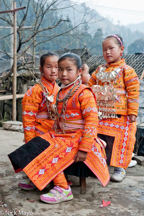 Apron,Breastpiece,China,Guizhou,Miao,Necklace,Wedding, photo