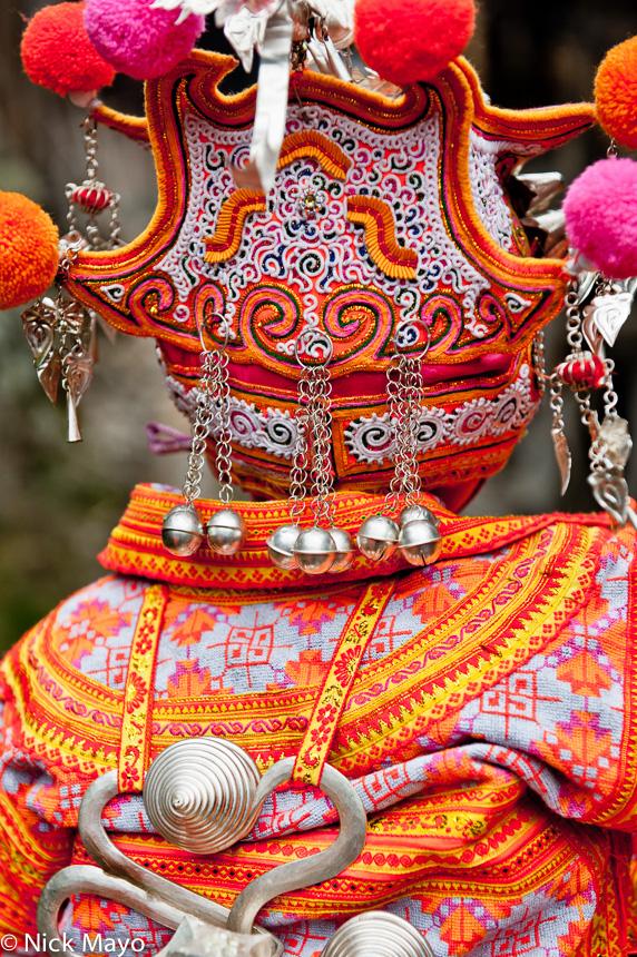 Backpiece,China,Guizhou,Hat,Miao,Wedding, photo