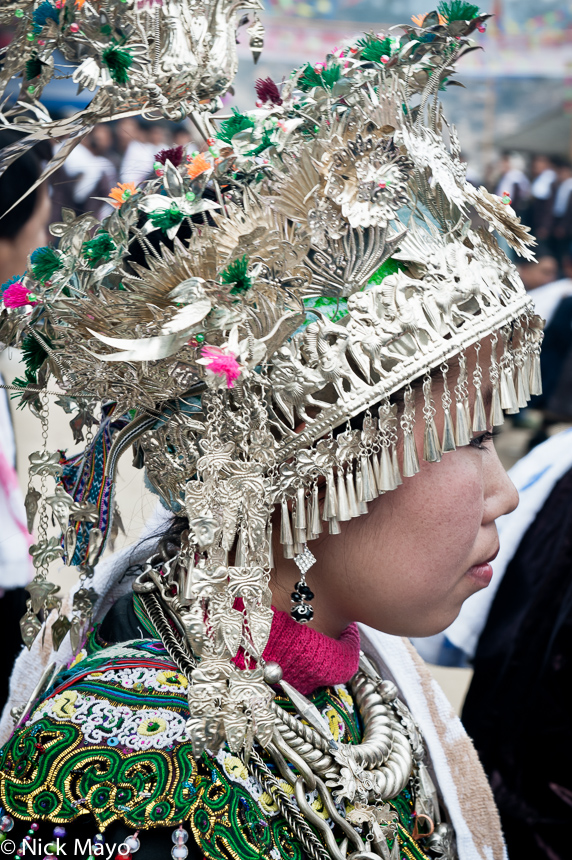 China,Dong,Festival,Guizhou,Headdress,Necklace, photo