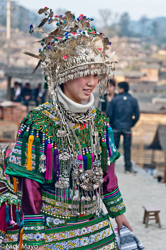 Breastpiece,China,Dong,Festival,Guizhou,Headdress,Necklace, photo