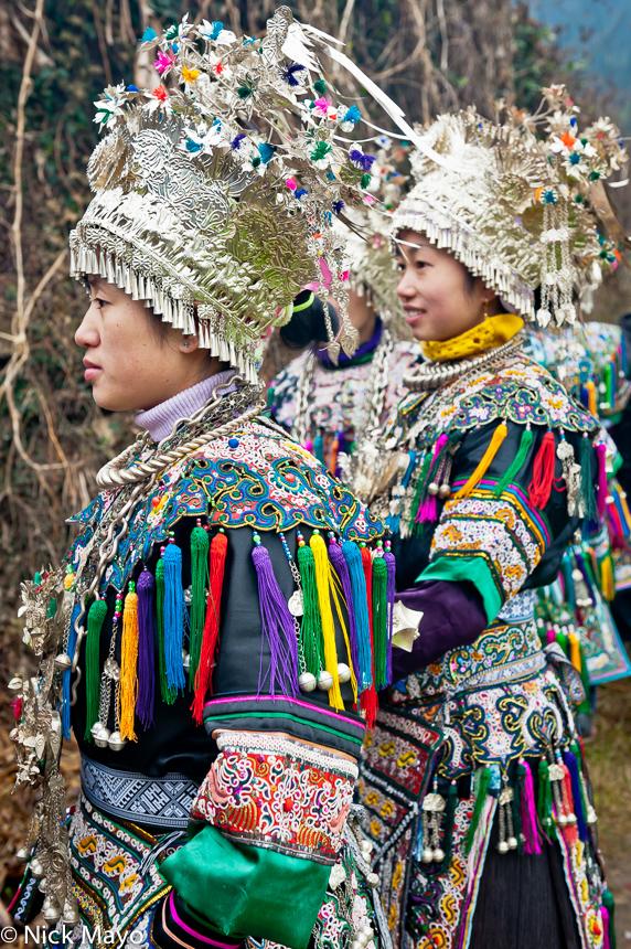 Breastpiece,China,Dong,Guizhou,Headdress,Necklace,Wedding, photo