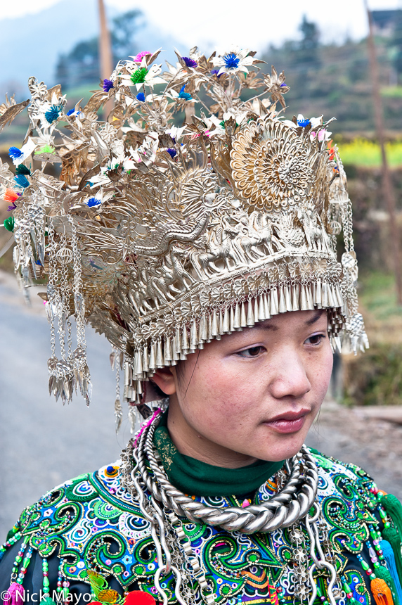 China,Dong,Guizhou,Headdress,Necklace,Wedding, photo