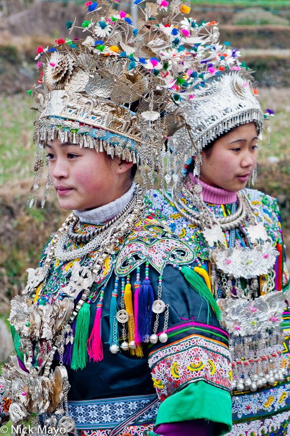 China,Dong,Guizhou,Headdress,Necklace,Wedding, photo
