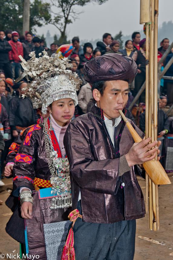 China,Festival,Guizhou,Miao,Piping, photo
