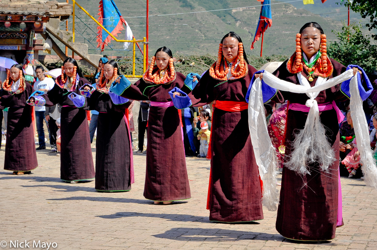 China,Festival,Hair Piece,Kata,Necklace,Qinghai,Tibetan, photo