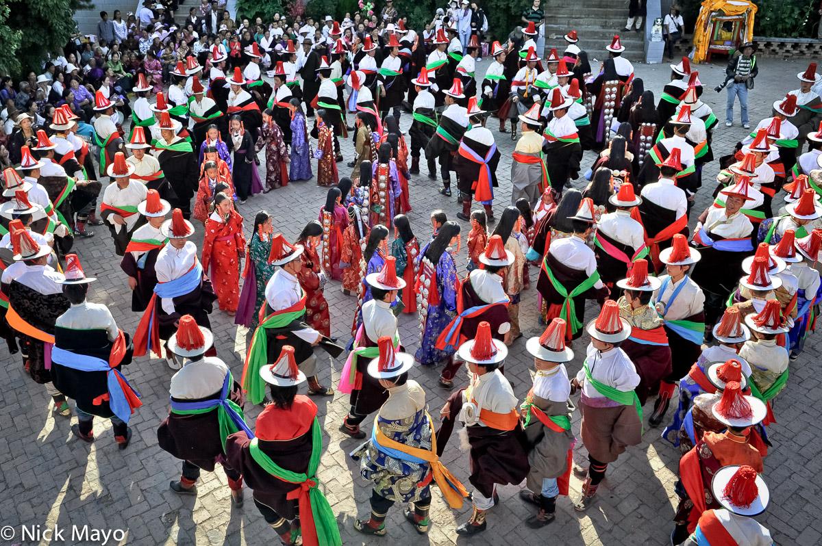 China,Festival,Hair Piece,Hat,Procession,Qinghai,Tibetan, photo