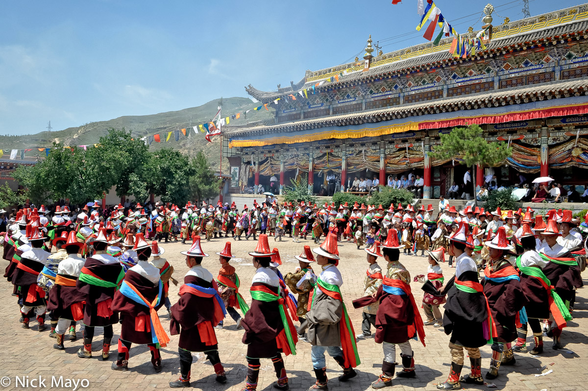 China,Circling,Festival,Hat,Monastery,Procession,Qinghai,Tibetan, photo
