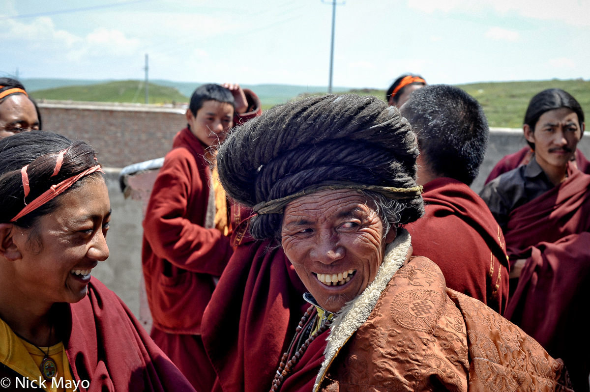 China,Hair,Monk,Qinghai,Tibetan, photo