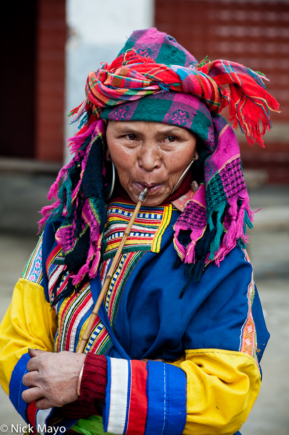 China,Lahu,Pipe,Smoking,Yunnan, photo