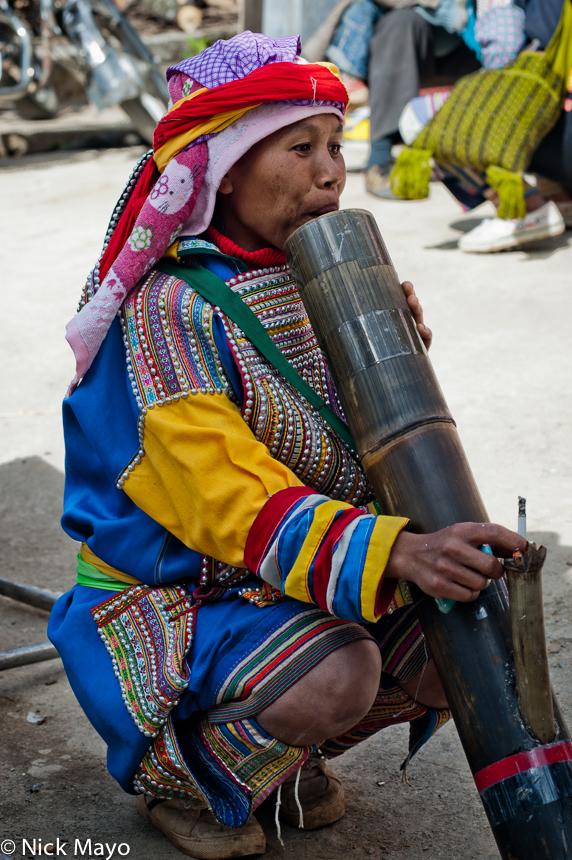 China,Lahu,Pipe,Smoking,Yunnan, photo