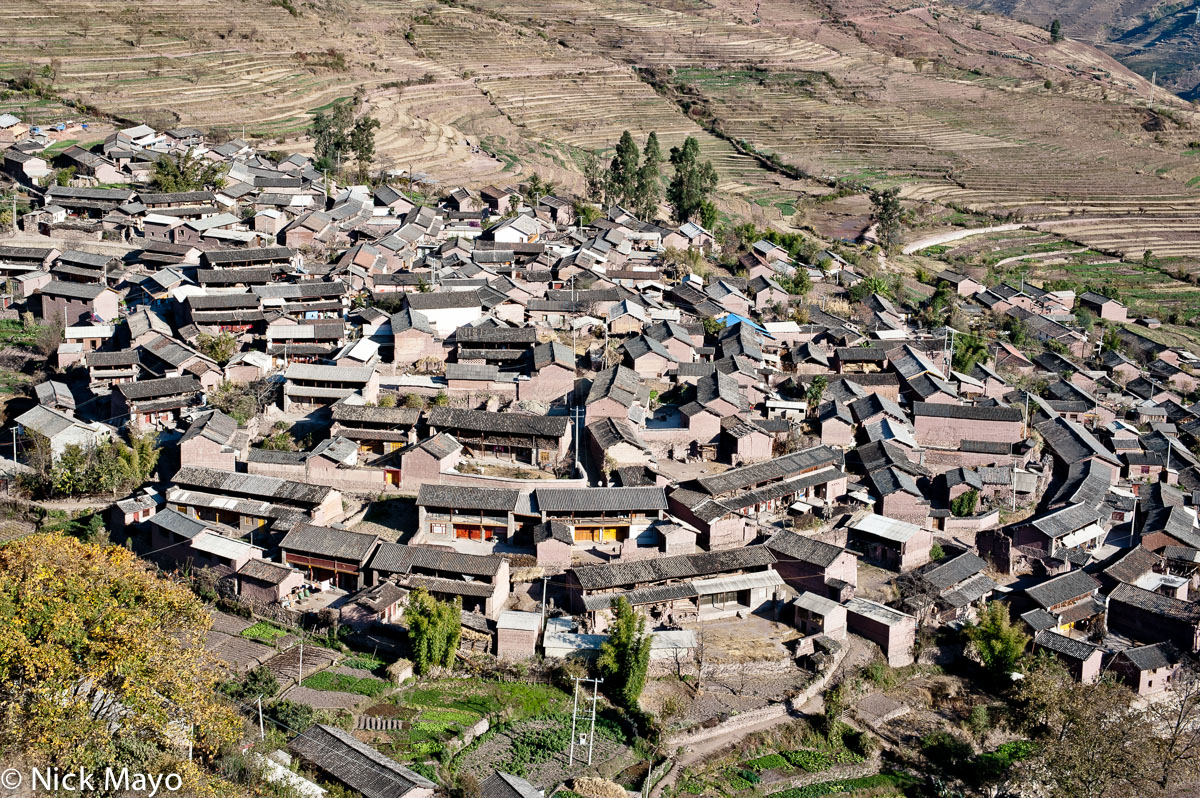China,Roof,Village,Yunnan, photo