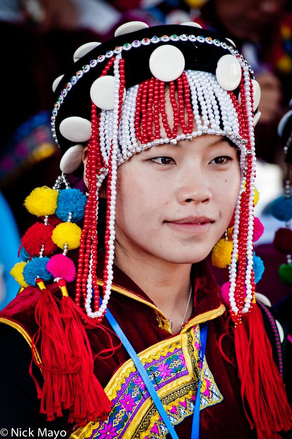 China,Festival,Headdress,Lisu,Yunnan, photo