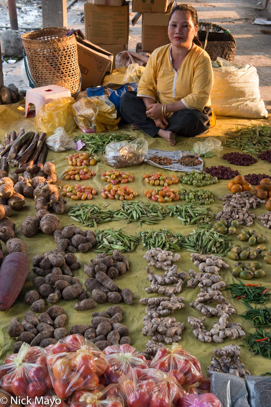 Adi, Arunachal Pradesh, India, Market, Selling, photo
