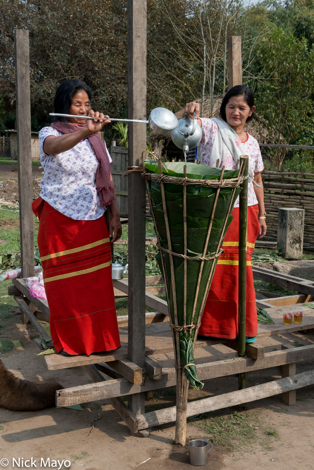 Adi, Arunachal Pradesh, Beer, Harvest Celebration, India, Preparing, photo