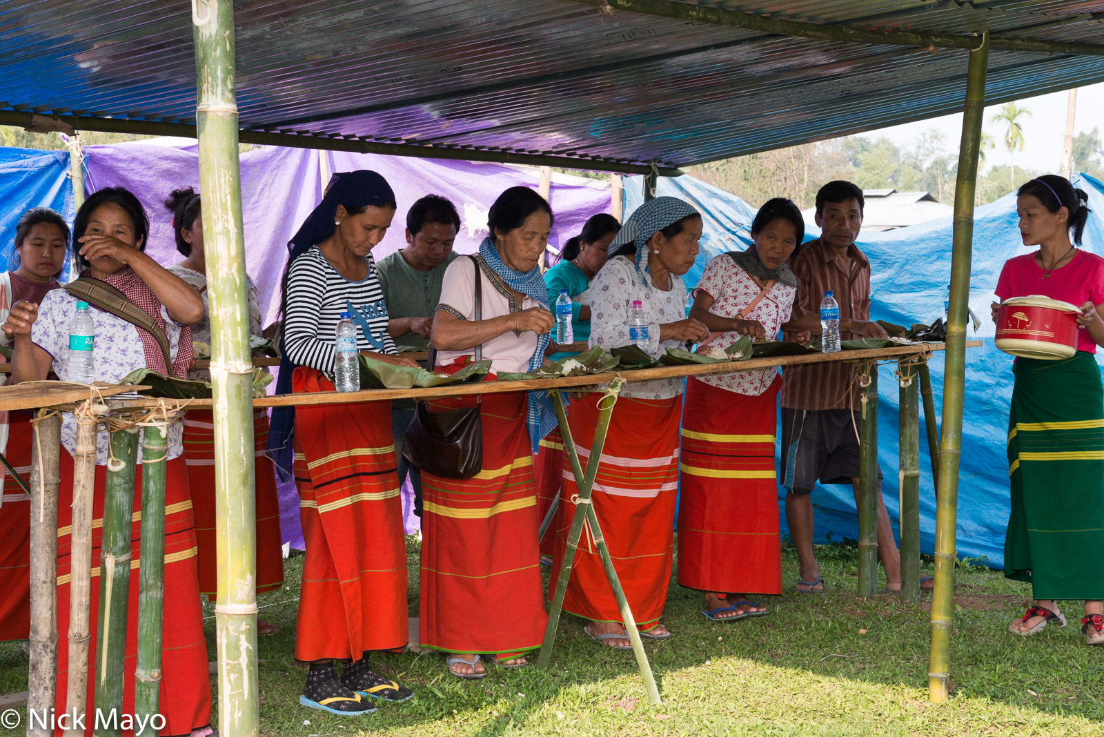 Adi, Arunachal Pradesh, Eating, Harvest Celebration, India, photo
