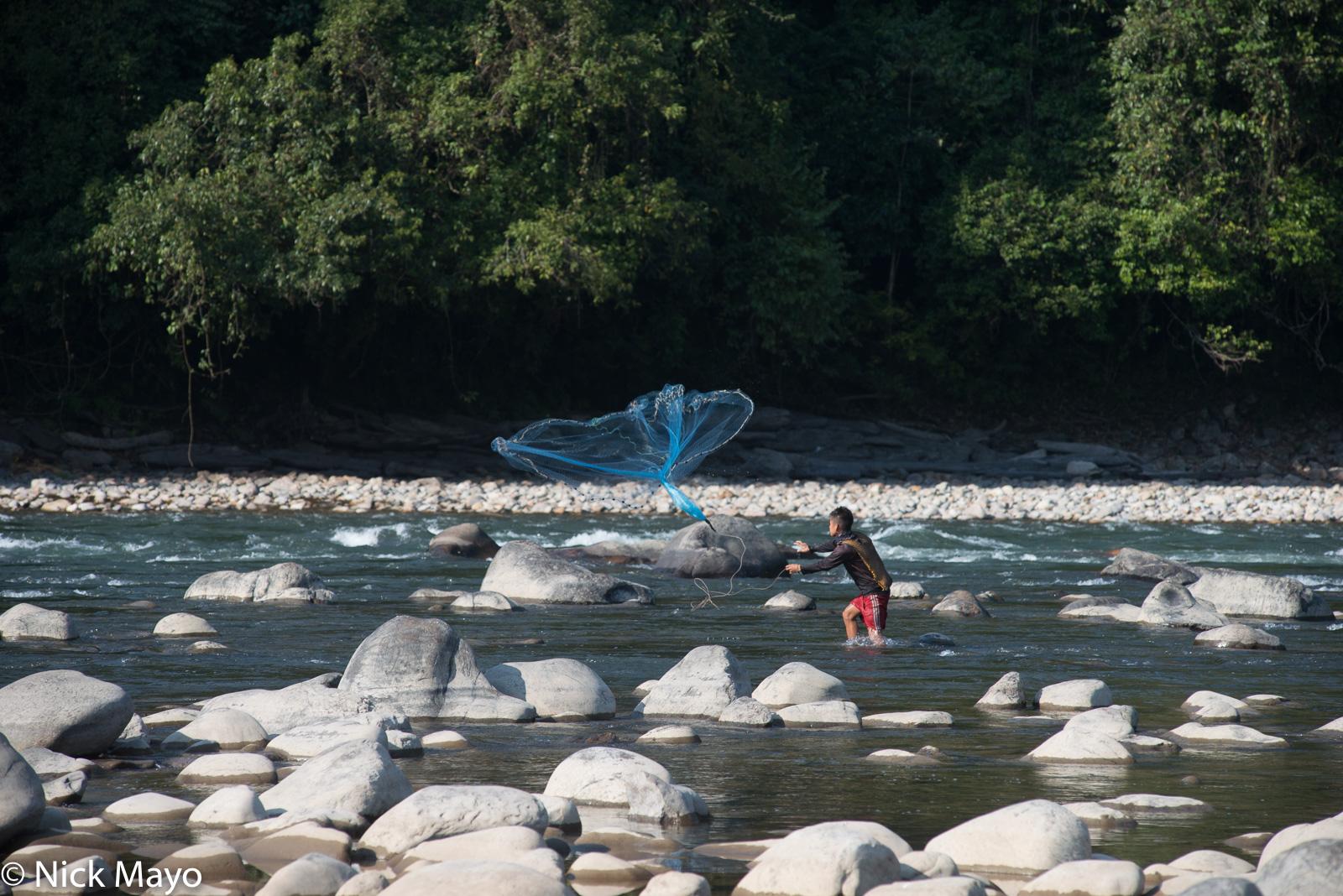 Arunachal Pradesh, Fishing, Fishing Net, India, Tagin, photo