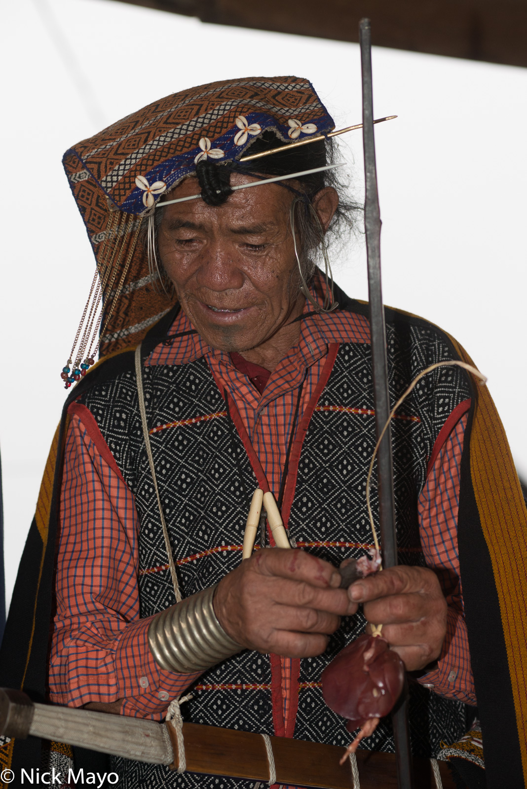 Apatani, Arunachal Pradesh, Festival, India, Priest, Religious Ritual, photo