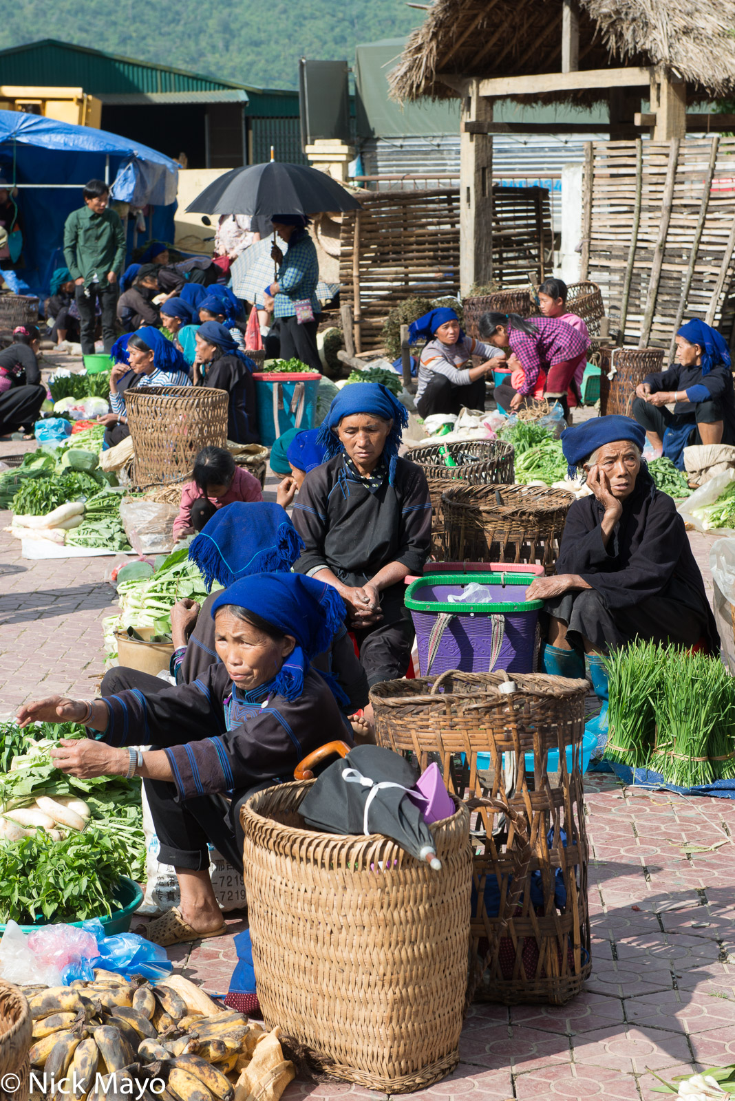 Basket, Hani, Lao Cai, Market, Selling, Vietnam, photo