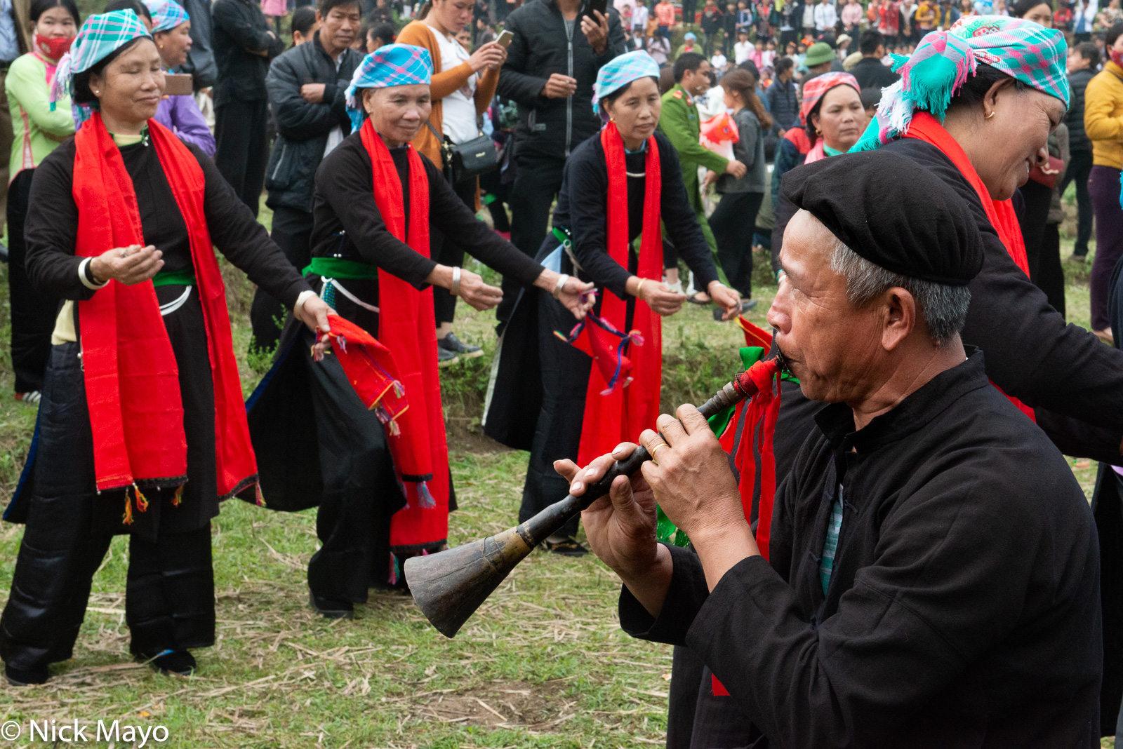 Dancing, Festival, Lao Cai, Piping, Vietnam, Zhuang, photo