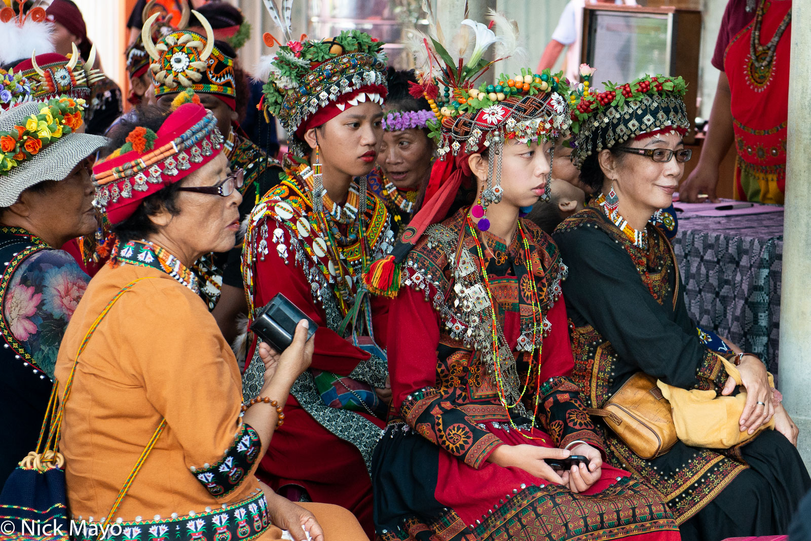 Paiwan women at a harvest festival at Taimali in Taitung County.