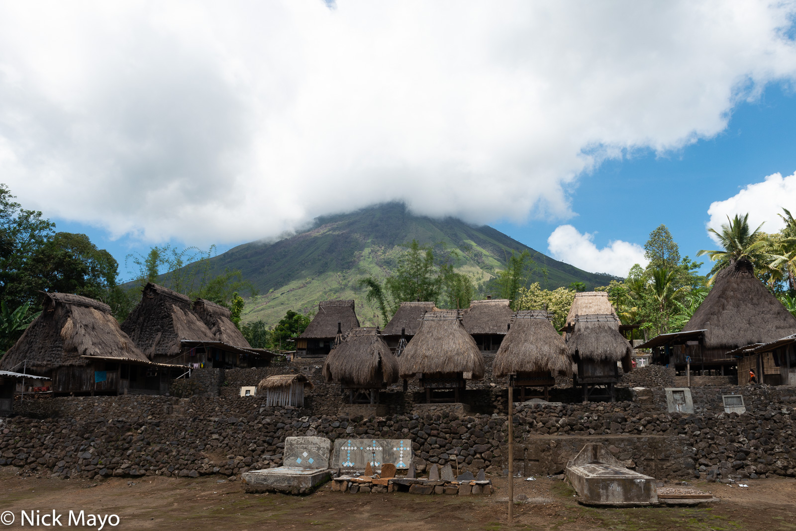 Animist Shrine, Flores, Grave, Indonesia, Roof, Thatch, Village, photo
