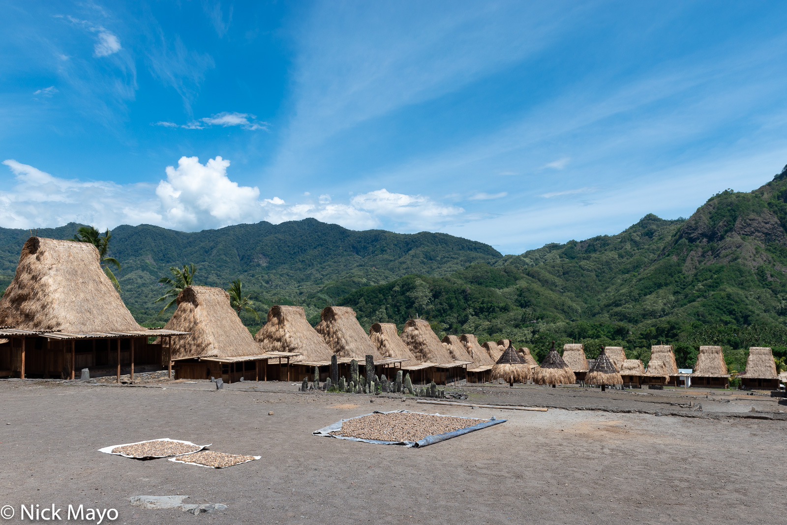 Drying, Flores, Indonesia, Roof, Thatch, Village, photo