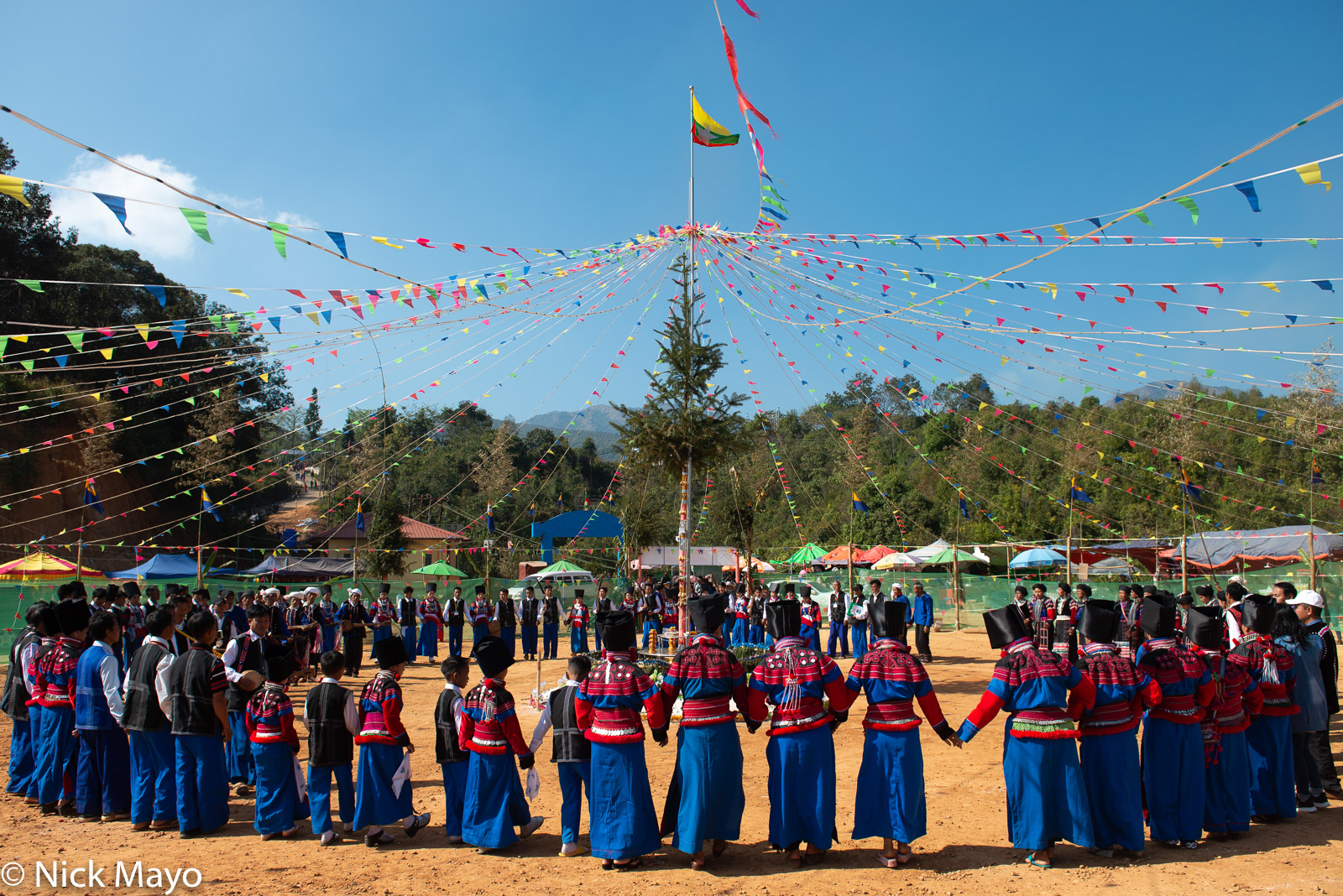 The final dance at a Lisu New Year festival in Mogok.