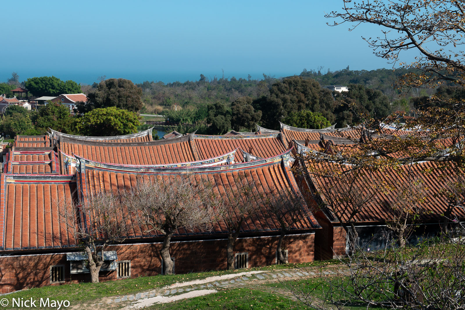 Shanhou village on Kinmen with its distinctive  roofs.