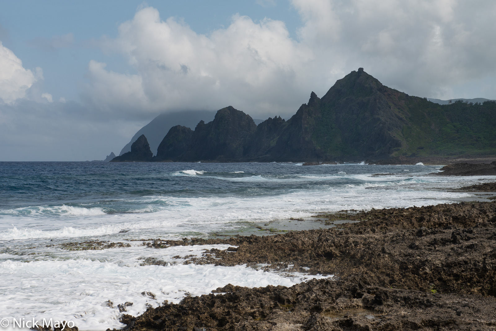 The south east coastline of Lanyu.