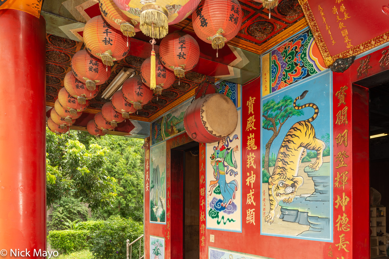Central Mountains, Drum, Taiwan, Temple, photo